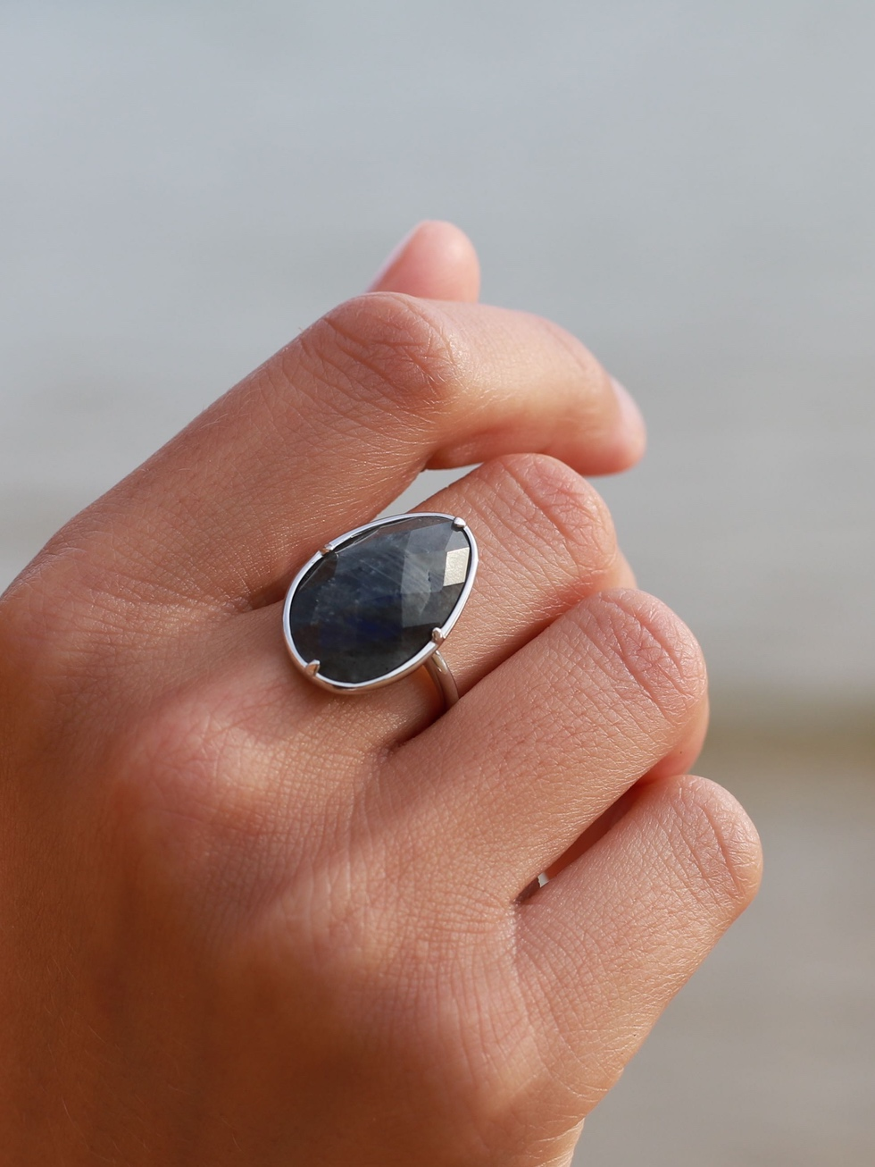 THE SAND silver ring