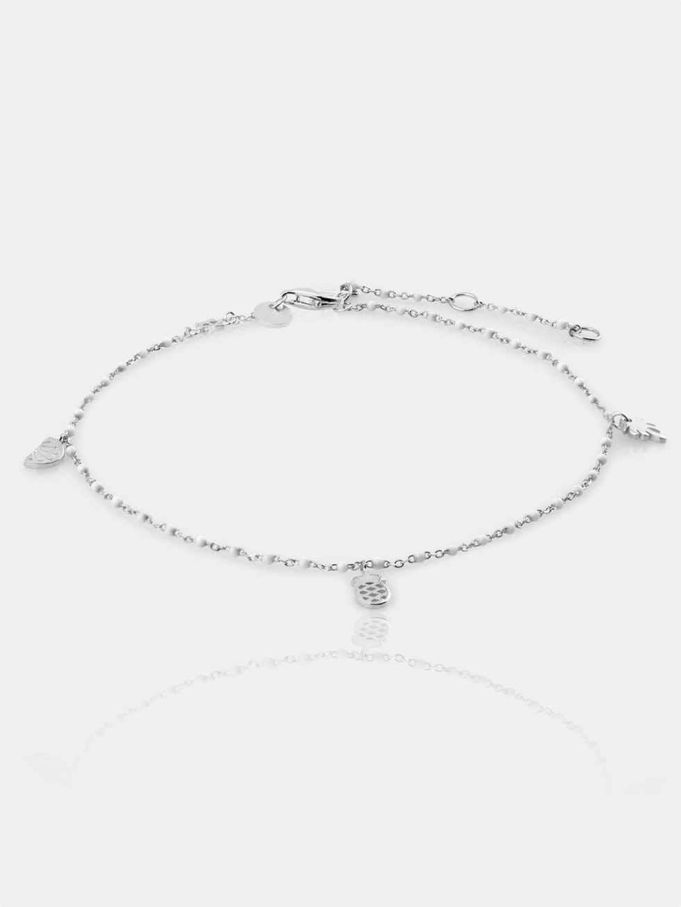 Anklet white silver