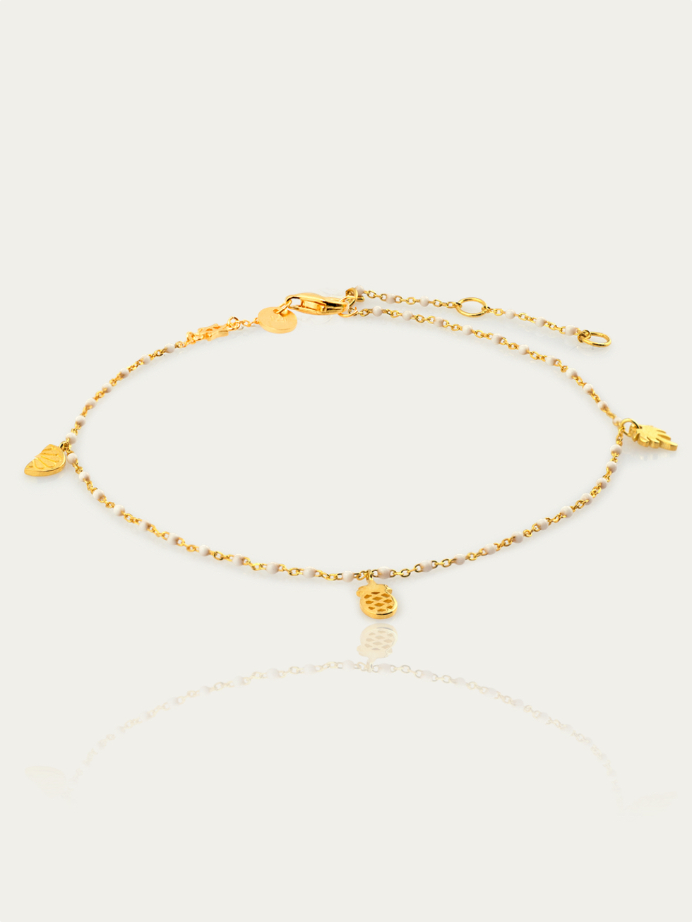 Anklet white gold