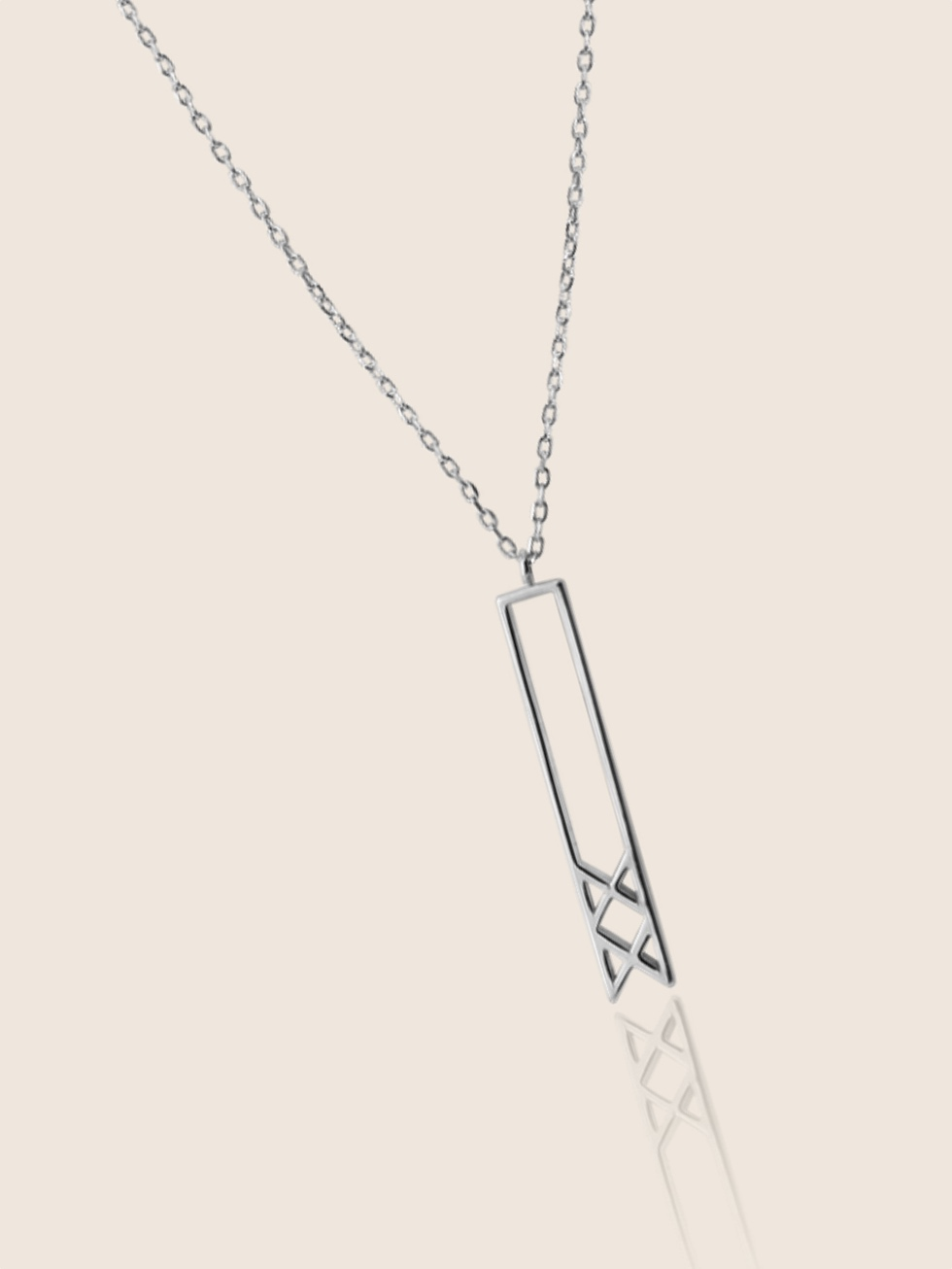 INGUZ silver necklace