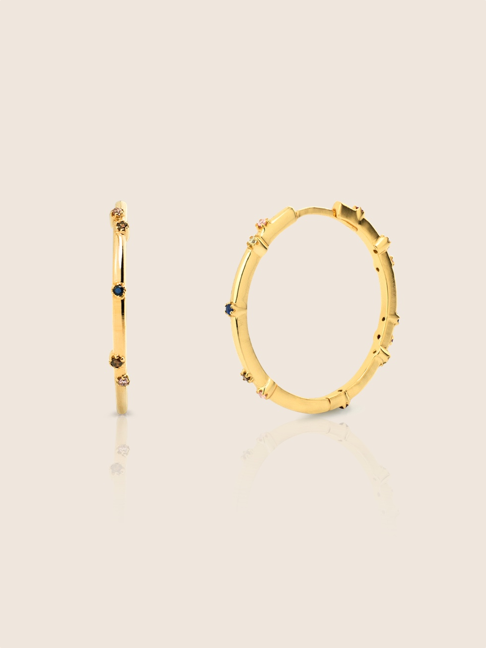 AQUAREL gold hoops earrings