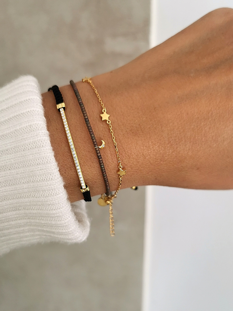 BROWN STONE gold bracelet
