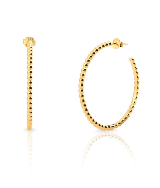 CIRCUS gold hoop earrings