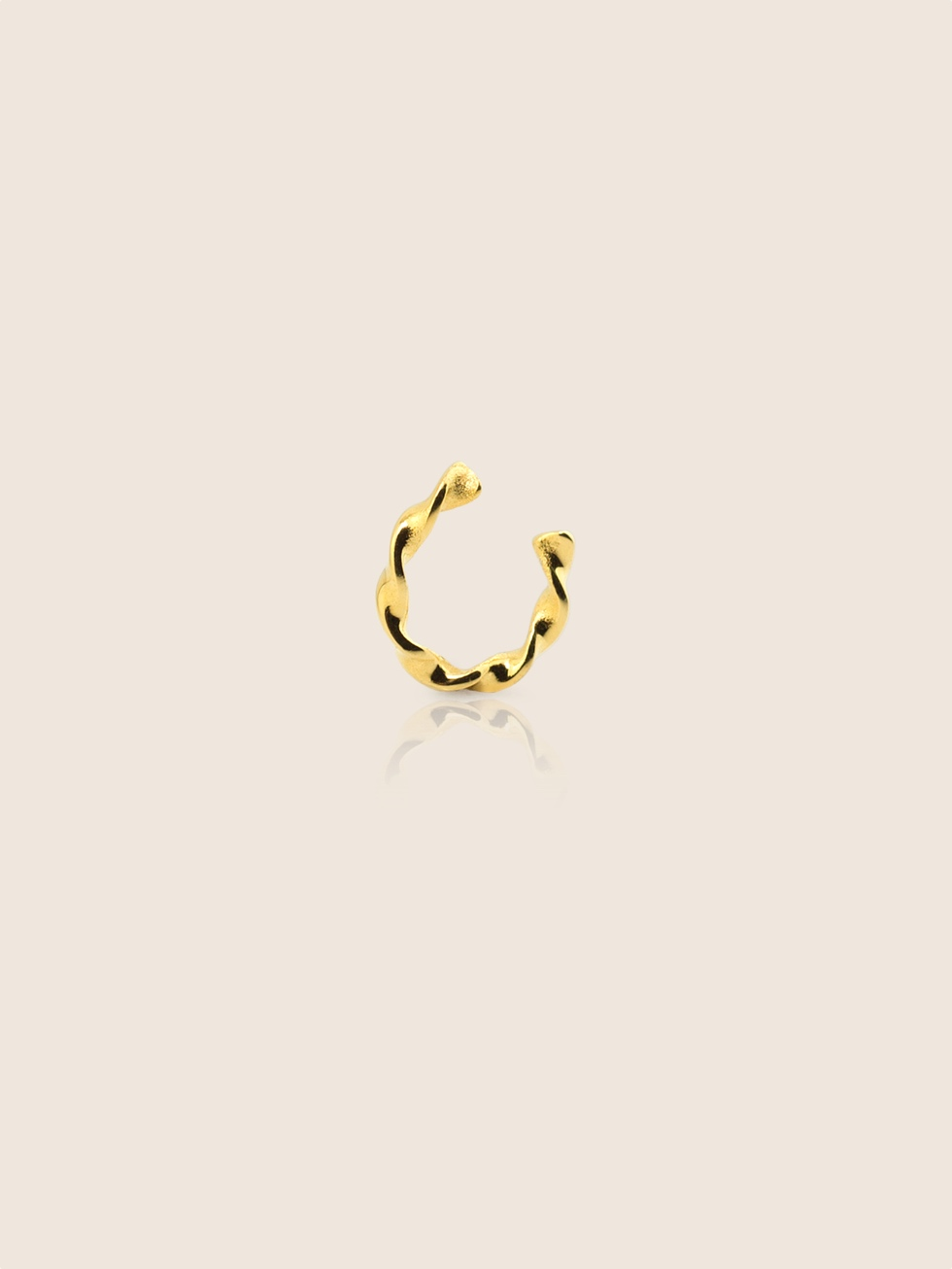 TWIST gold EARCUFF