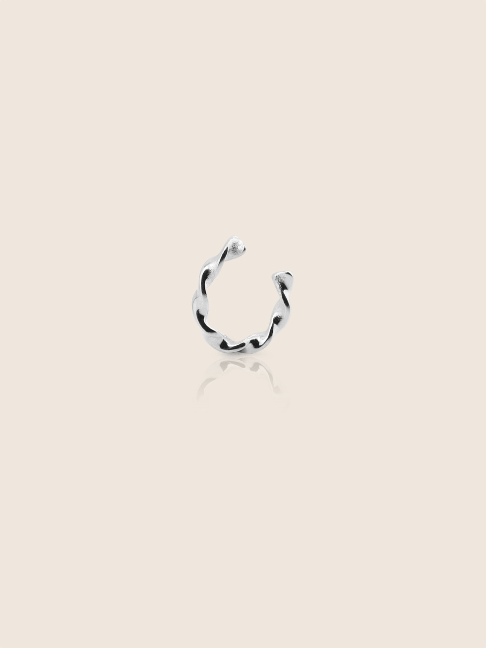 Pendientes earcuff twist silver2