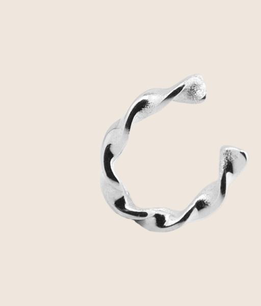 silver TWIST EARCUFF