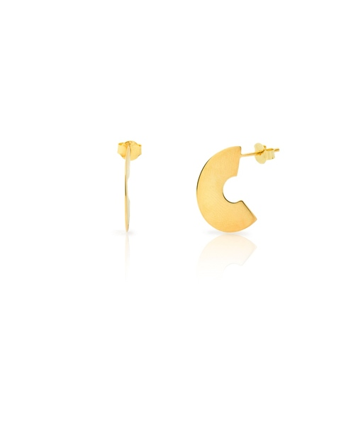 MINI FLAT gold earrings