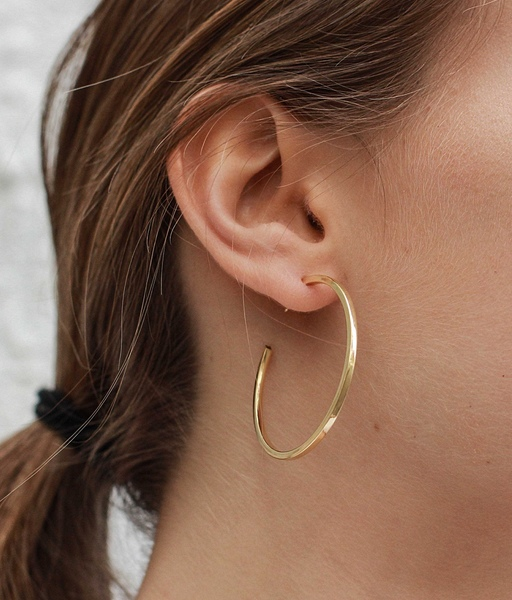 GLAM gold hoops