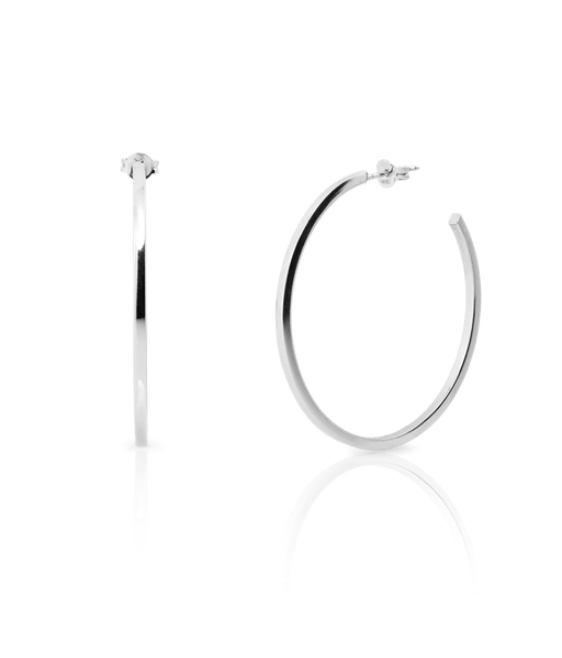 GLAM silver hoops
