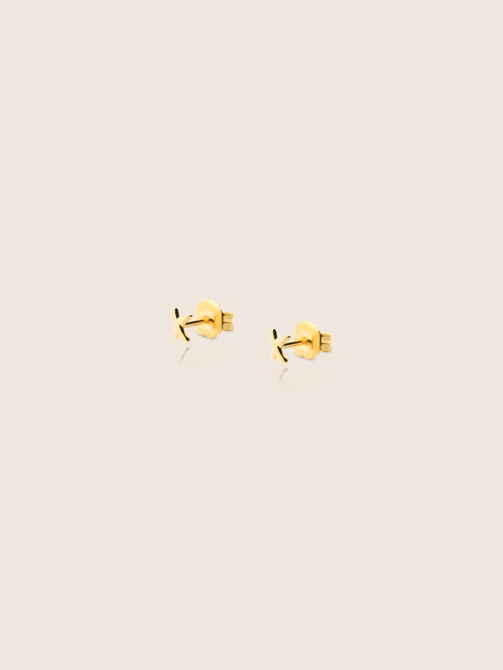 Pendientes mini x gold2