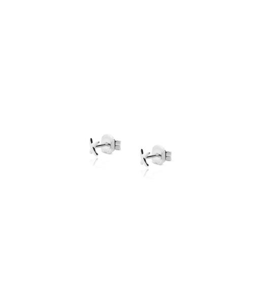 Boucles d'oreilles mini X argent