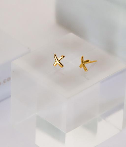 Pendientes maxi X oro