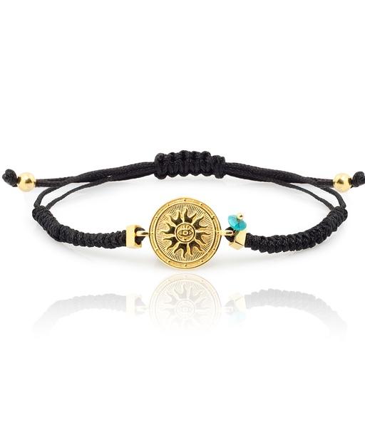 GIRATIEMPO cord gold bracelet