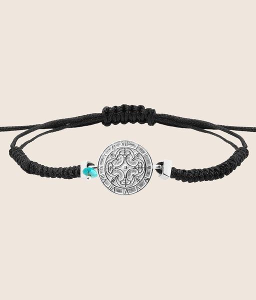 GIRATIEMPO cord silver bracelet