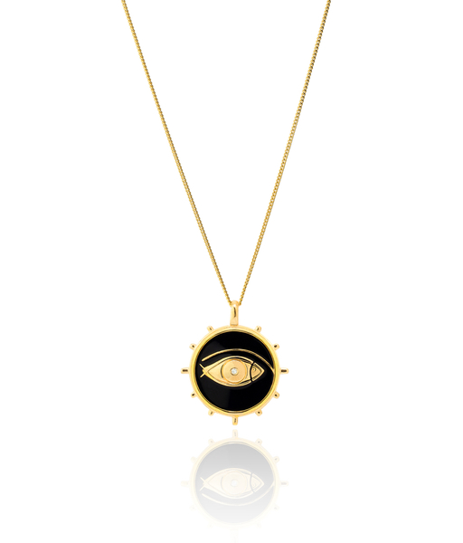 FISH EYE gold necklace