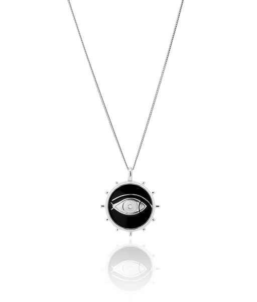 FISH EYE slv necklace