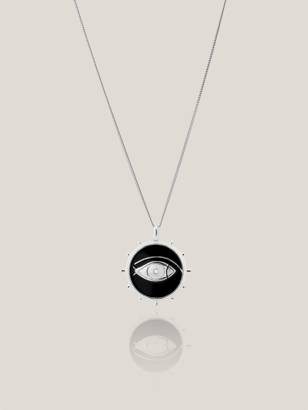 Collier FISH EYE argent