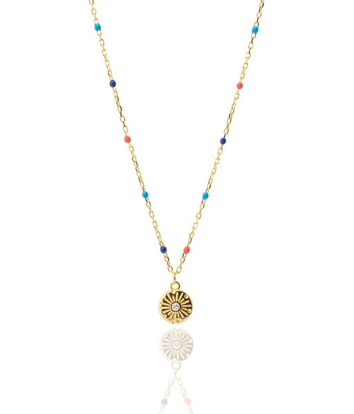 MULTICOLORS necklace gold