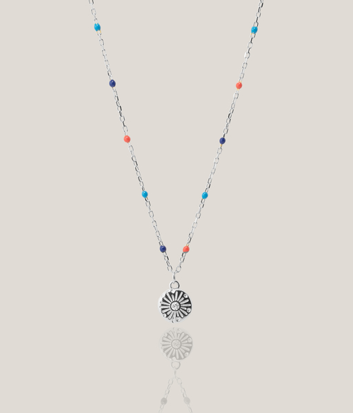 MULTICOLORS necklace silver