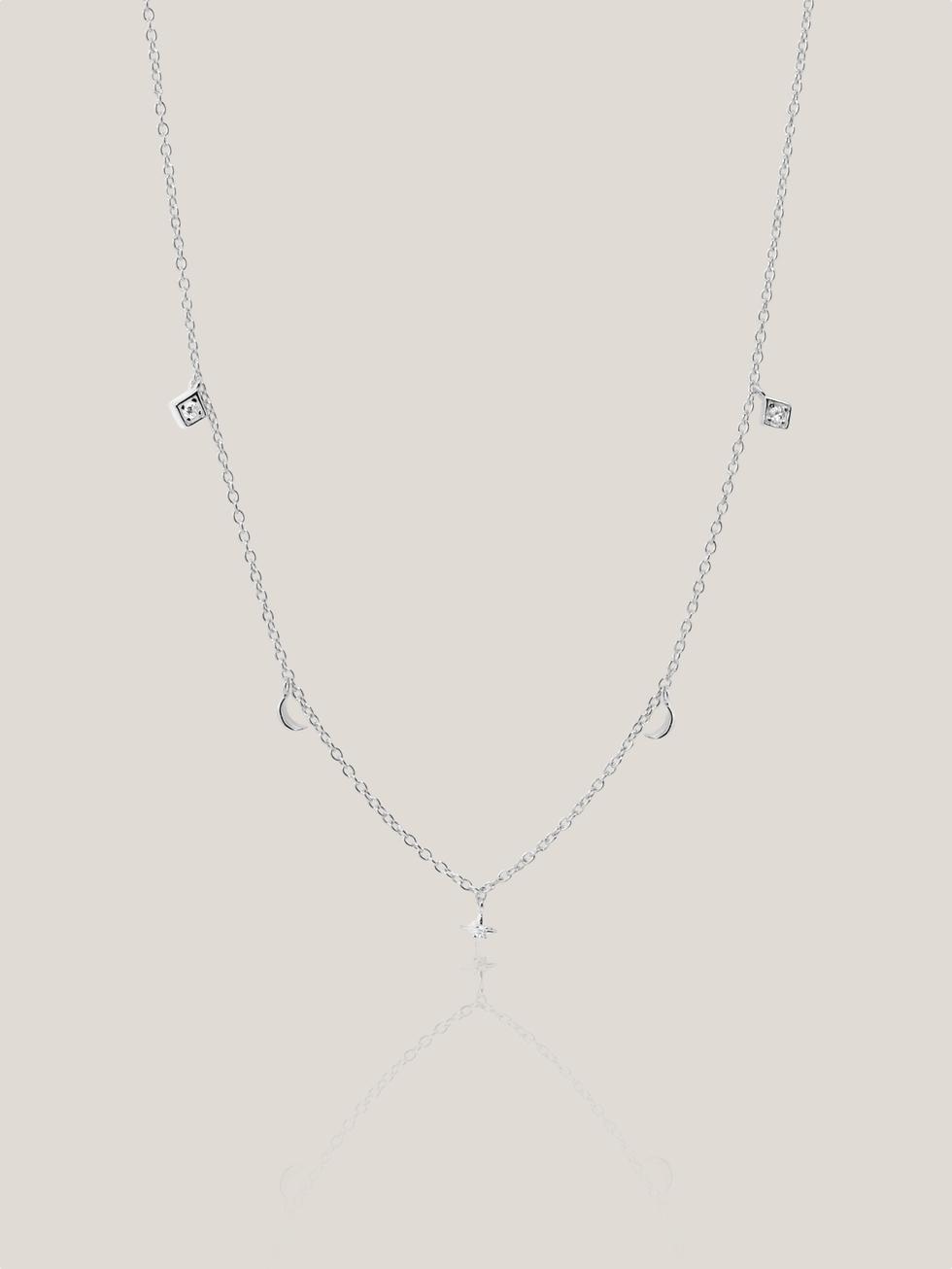 Collar moonstars choker silver2