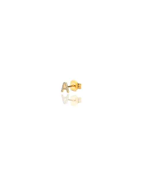 INITIAL gold earrings