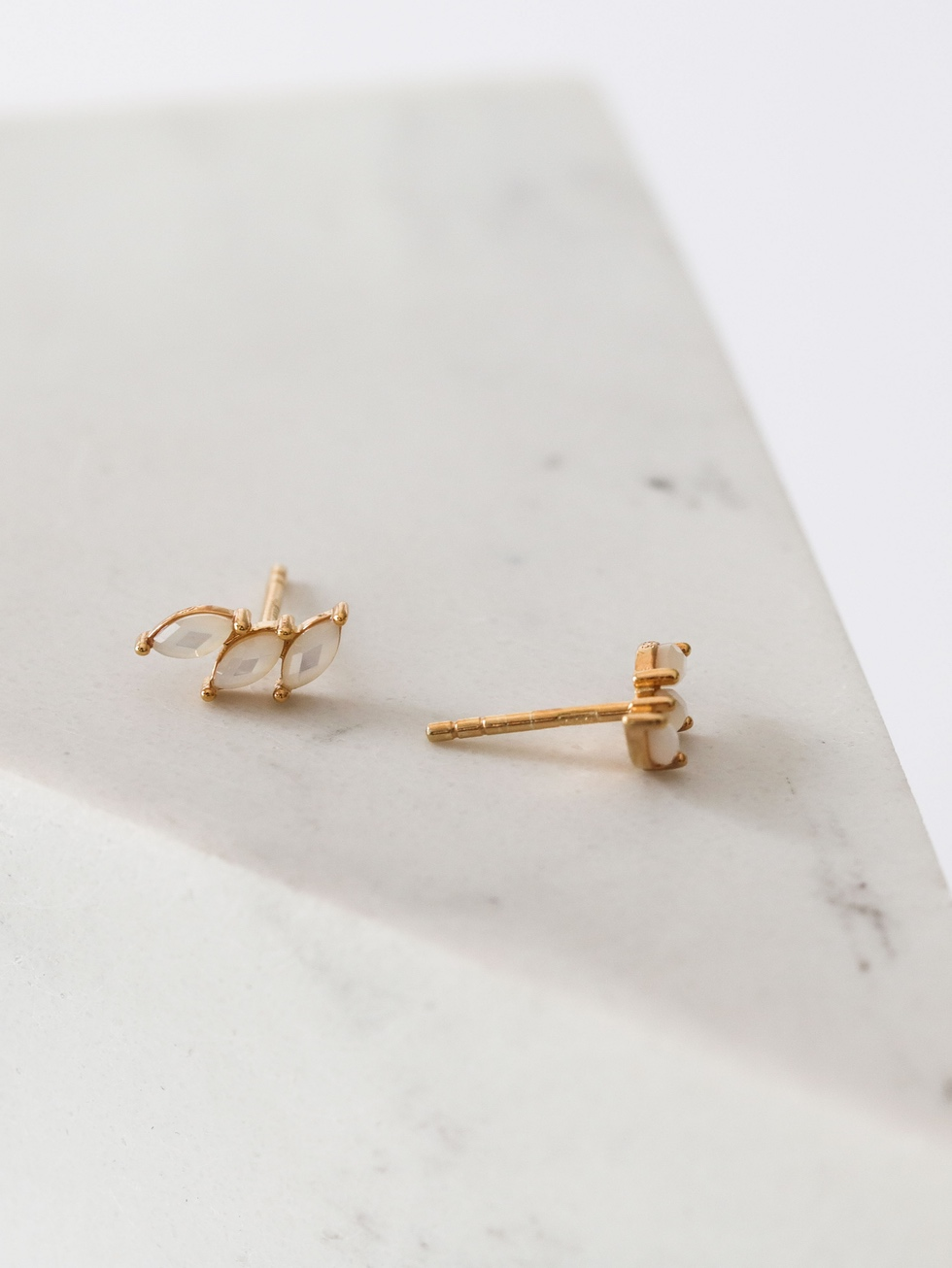 MINI ICE gold earrings