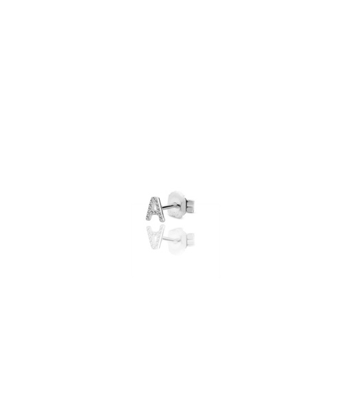 INITIAL silver earring