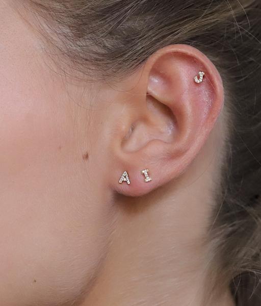 Boucles d'oreilles INITIAL argent