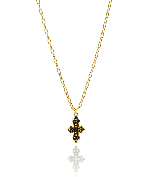 Collar BLACK CROSS oro