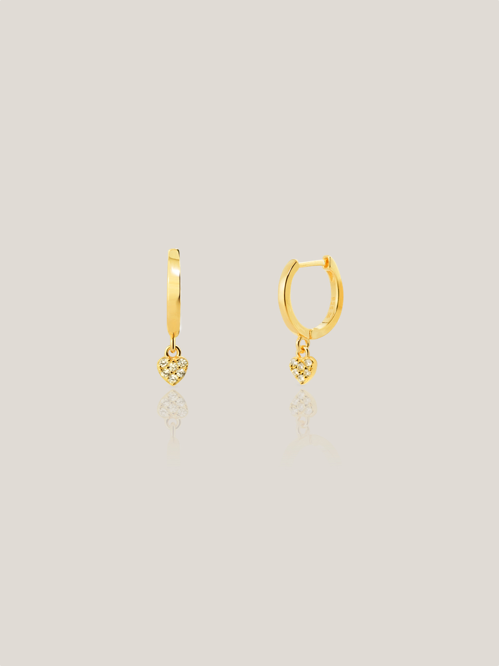 HEART hoops gold earrings