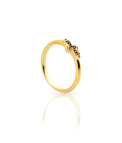 BLACK CROSS gold ring