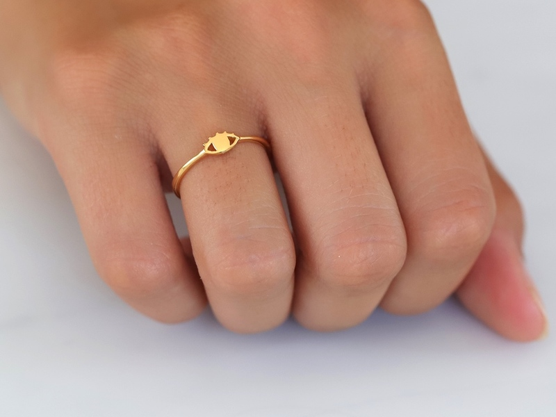 EYE gold ring
