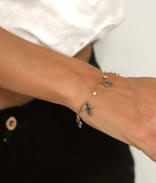 BLACK CROSS gold bracelet