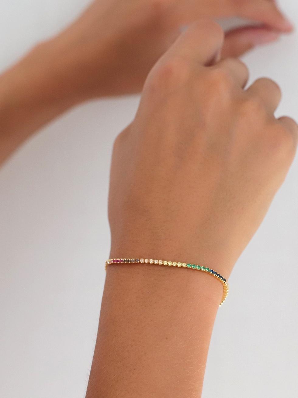 Bracelet rainbow gold mod