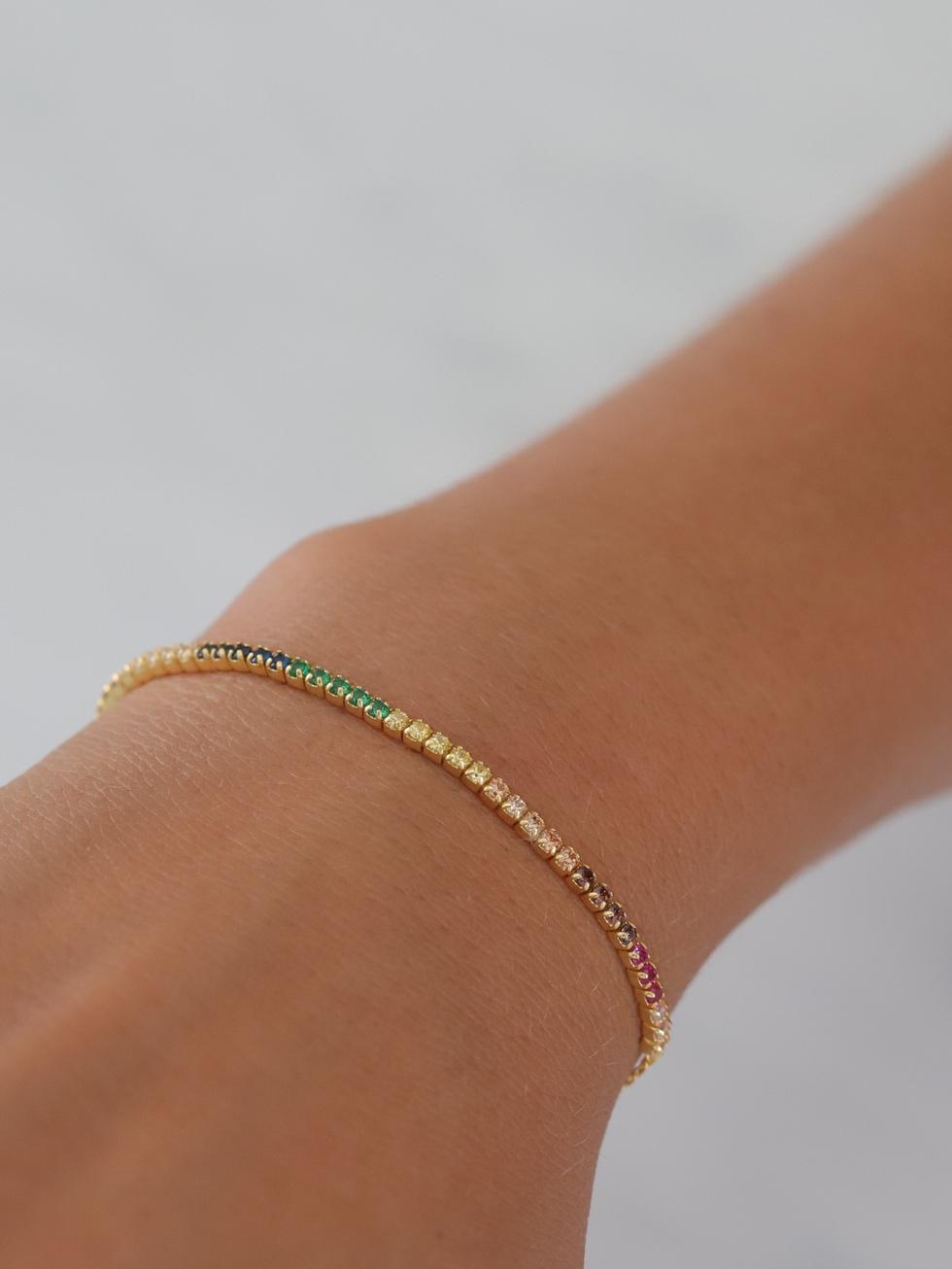 Bracelet rainbow gold mod2