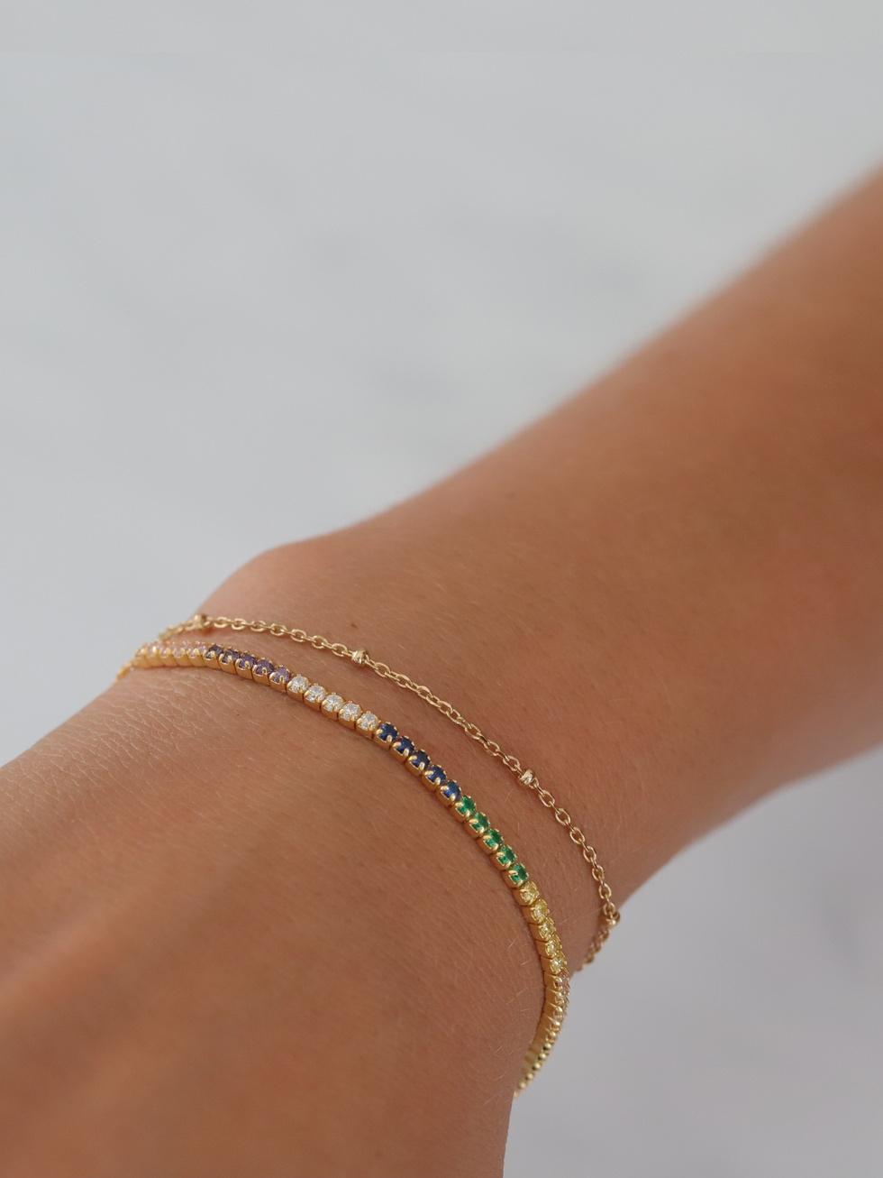 Bracelet rainbow gold mod3