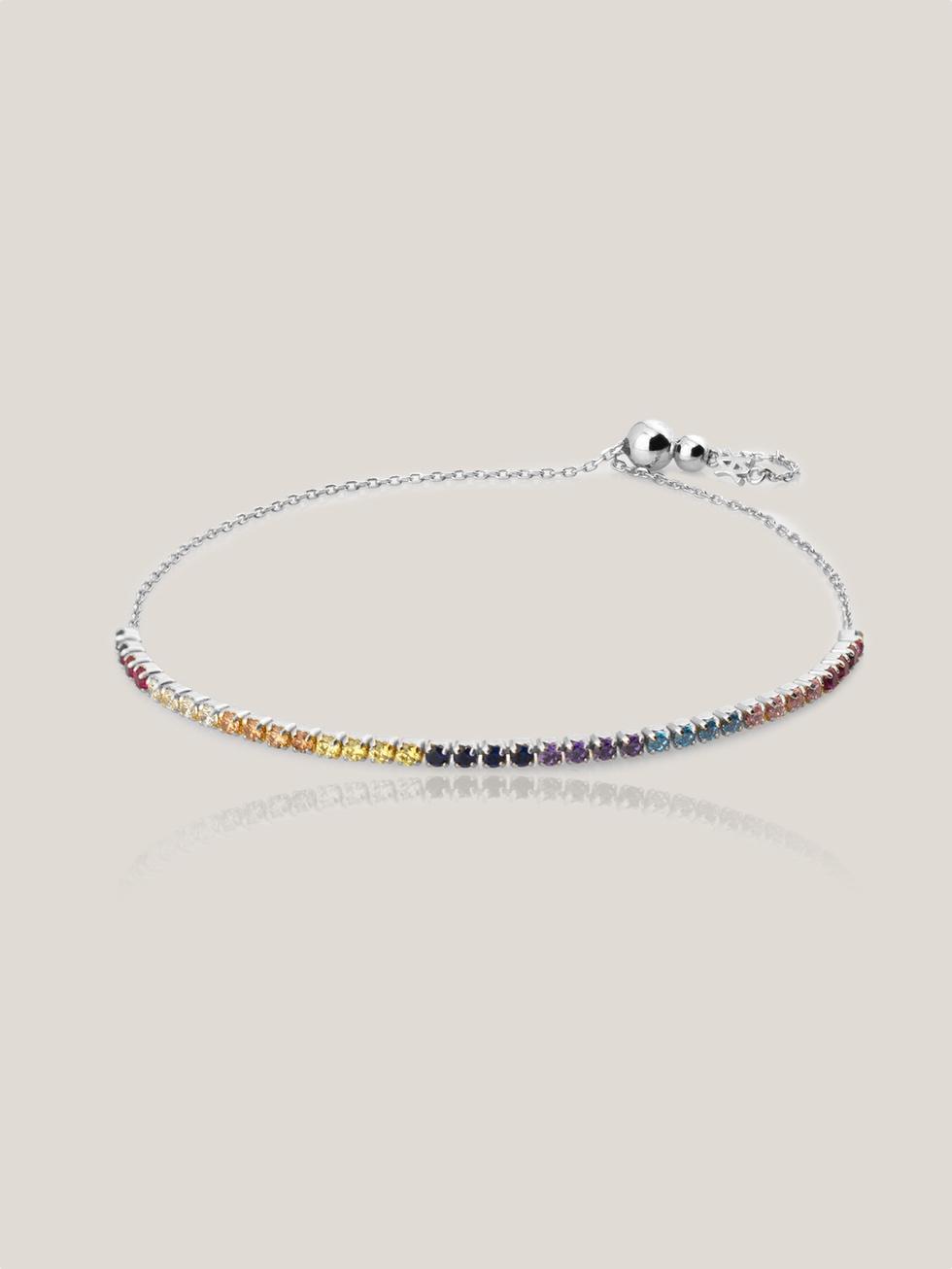 Bracelet rainbow silver2