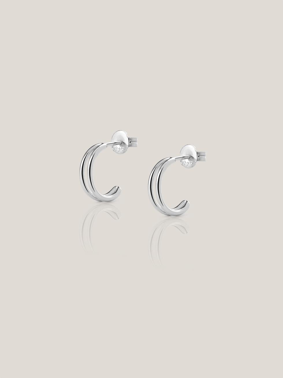 Pendientes doble hoop silver2