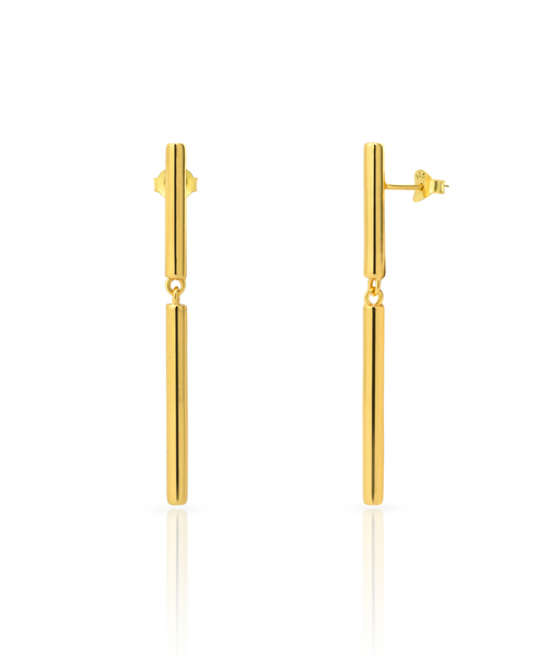 STICK BOLD gold earrings