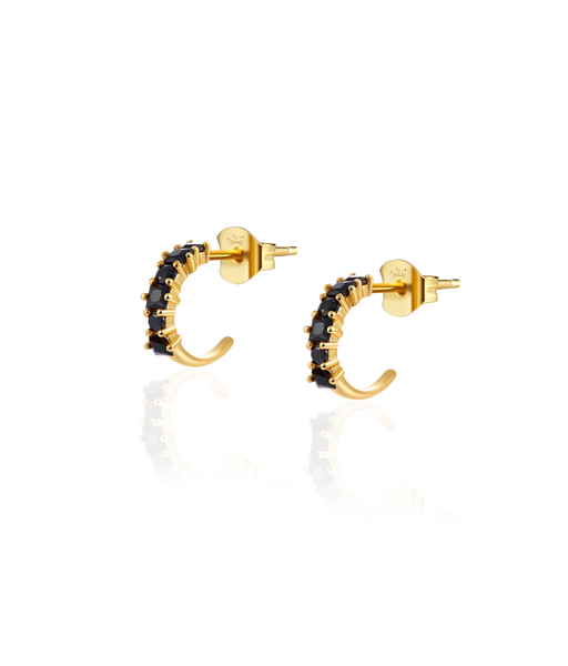 BLACK CIRCUS gold hoop earrings