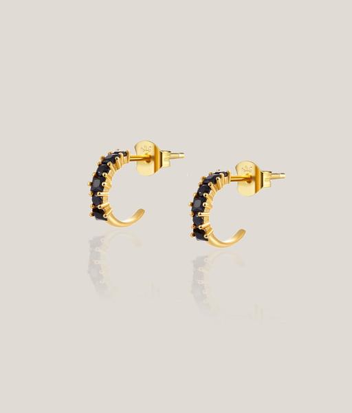 BLACK CIRCUS gold hoop earrings