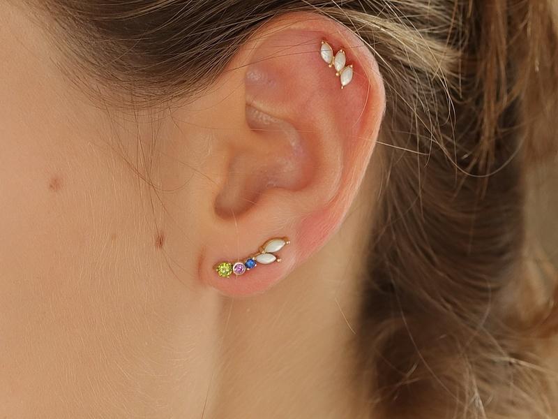 Gold IVOLI earrings