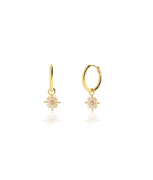 SNOWFLAKE gold earrings