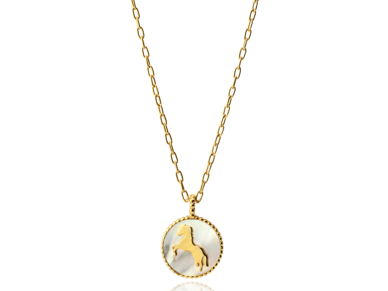 HORSE gold necklace