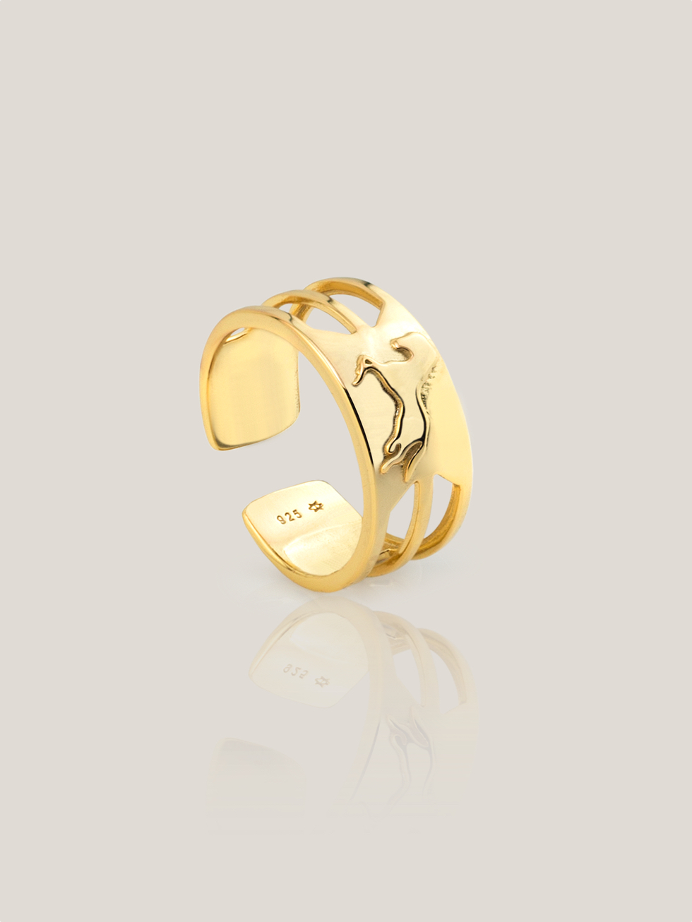 HORSE gold ring