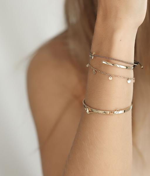 5 COINS gold bracelet