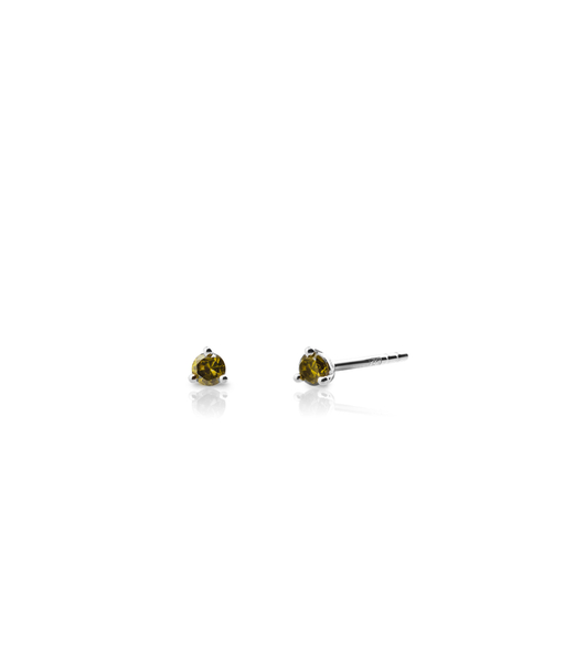 OLIVE STUD silver earrings