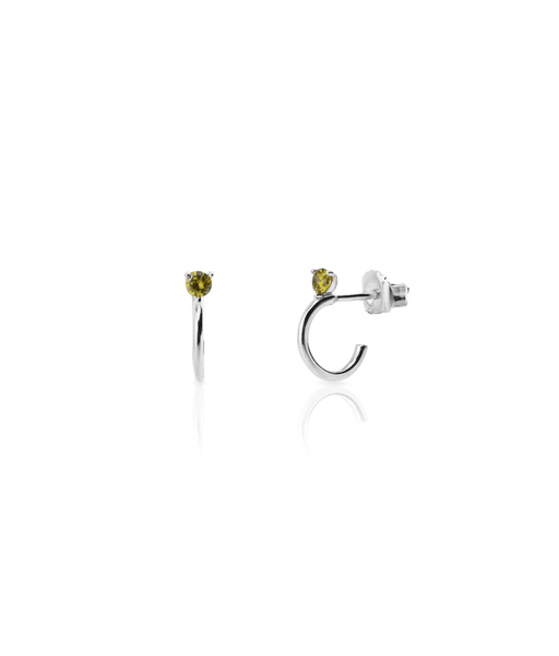 MELON stelring silver hoop earrings