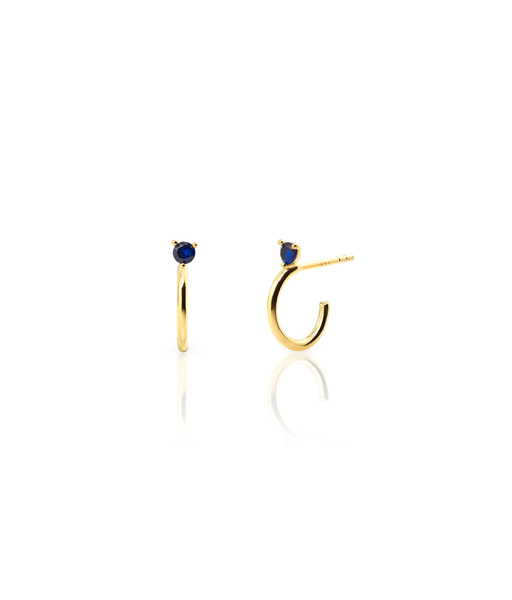 OCEAN gold hoops earrings