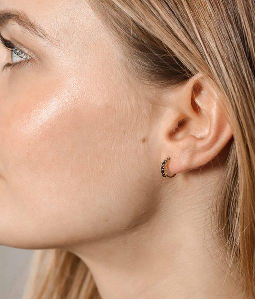Boucles d'oreilles BLACK CIRCUS or